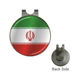 Flag Of Iran Hat Clips with Golf Markers