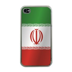 Flag Of Iran Apple iPhone 4 Case (Clear)