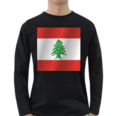 Flag Of Lebanon Long Sleeve Dark T-Shirts