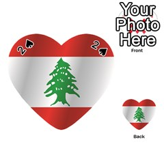 Flag Of Lebanon Playing Cards 54 (Heart)