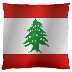 Flag Of Lebanon Large Cushion Case (Two Sides)