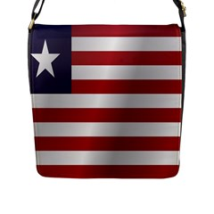 Flag Of Liberia Flap Messenger Bag (L)