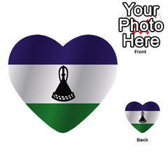Flag Of Lesotho Multi-purpose Cards (Heart)