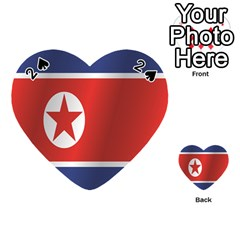 Flag Of North Korea Playing Cards 54 (Heart)
