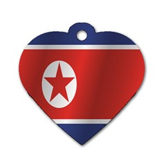 Flag Of North Korea Dog Tag Heart (Two Sides)