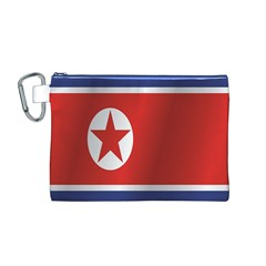 Flag Of North Korea Canvas Cosmetic Bag (M)