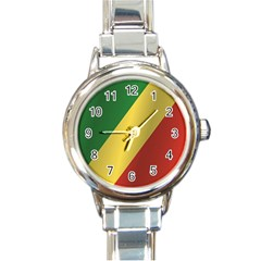 Flag Of Republic Of The Congo Round Italian Charm Watch