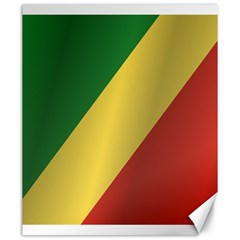 Flag Of Republic Of The Congo Canvas 20  x 24