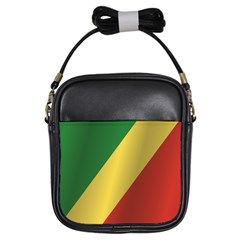 Flag Of Republic Of The Congo Girls Sling Bags