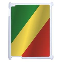 Flag Of Republic Of The Congo Apple iPad 2 Case (White)