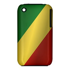 Flag Of Republic Of The Congo Apple iPhone 3G/3GS Hardshell Case (PC+Silicone)