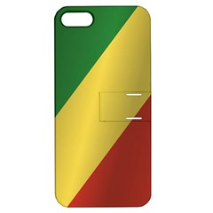Flag Of Republic Of The Congo Apple iPhone 5 Hardshell Case with Stand