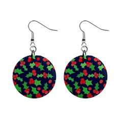 Holly Jolly Christmas Mini Button Earrings