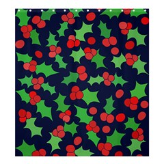 Holly Jolly Christmas Shower Curtain 66  x 72  (Large)