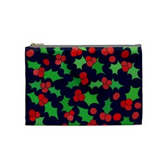 Holly Jolly Christmas Cosmetic Bag (medium)