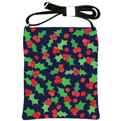 Holly Jolly Christmas Shoulder Sling Bags