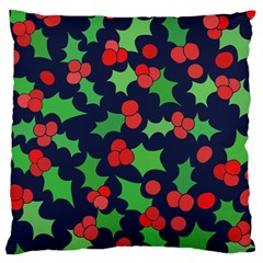 Holly Jolly Christmas Large Cushion Case (Two Sides)