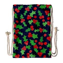 Holly Jolly Christmas Drawstring Bag (Large)