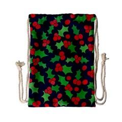 Holly Jolly Christmas Drawstring Bag (Small)