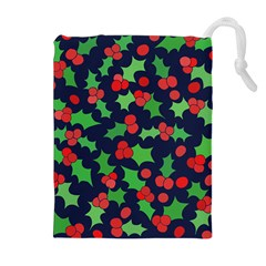 Holly Jolly Christmas Drawstring Pouches (Extra Large)