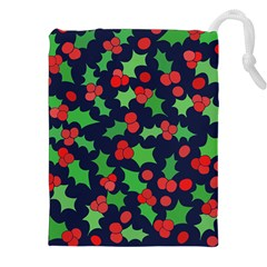 Holly Jolly Christmas Drawstring Pouches (XXL)