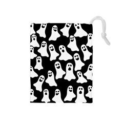 Halloween Ghosts Drawstring Pouches (medium)