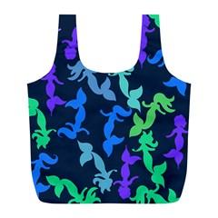 Mermaids Full Print Recycle Bags (l)
