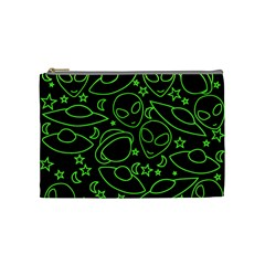Alien Invasion  Cosmetic Bag (medium)