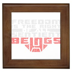 Freedom is the Right GRUNGE Framed Tiles