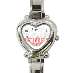 Freedom is the Right GRUNGE Heart Italian Charm Watch
