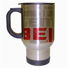 Freedom is the Right GRUNGE Travel Mug (Silver Gray)