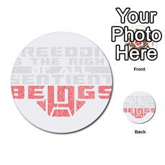 Freedom Is The Right Grunge Multi Purpose Cards (round)