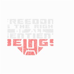 Freedom is the Right GRUNGE Small Garden Flag (Two Sides)