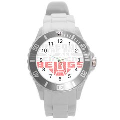 Freedom is the Right GRUNGE Round Plastic Sport Watch (L)