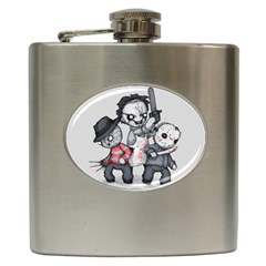 Horror Trifecta Plushie  Hip Flask (6 oz)