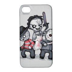 Horror Trifecta Plushie  Apple Iphone 4/4s Hardshell Case With Stand