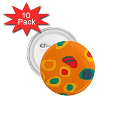 Orange abstraction 1.75  Buttons (10 pack)