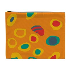 Orange abstraction Cosmetic Bag (XL)