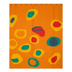 Orange abstraction Shower Curtain 60  x 72  (Medium)