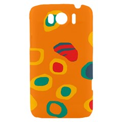 Orange abstraction HTC Sensation XL Hardshell Case