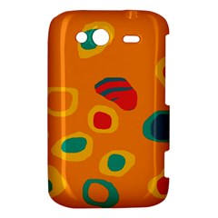 Orange abstraction HTC Wildfire S A510e Hardshell Case