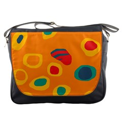 Orange abstraction Messenger Bags