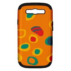 Orange abstraction Samsung Galaxy S III Hardshell Case (PC+Silicone)