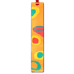 Orange abstraction Large Book Marks