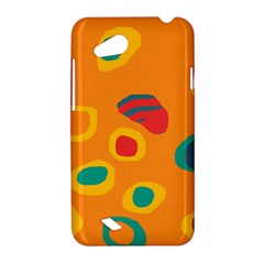 Orange abstraction HTC Desire VC (T328D) Hardshell Case