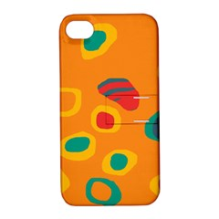 Orange abstraction Apple iPhone 4/4S Hardshell Case with Stand