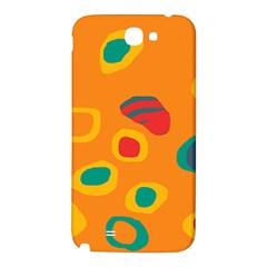 Orange abstraction Samsung Note 2 N7100 Hardshell Back Case