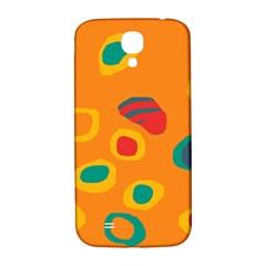 Orange abstraction Samsung Galaxy S4 I9500/I9505  Hardshell Back Case