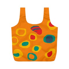 Orange abstraction Full Print Recycle Bags (M)