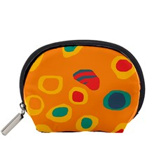Orange abstraction Accessory Pouches (Small)